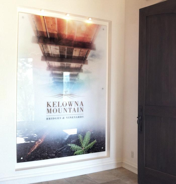 Kelowna Mountain Poster