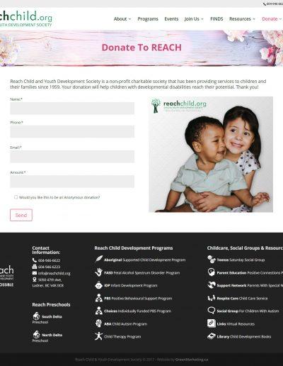 Reach Donate Page Design